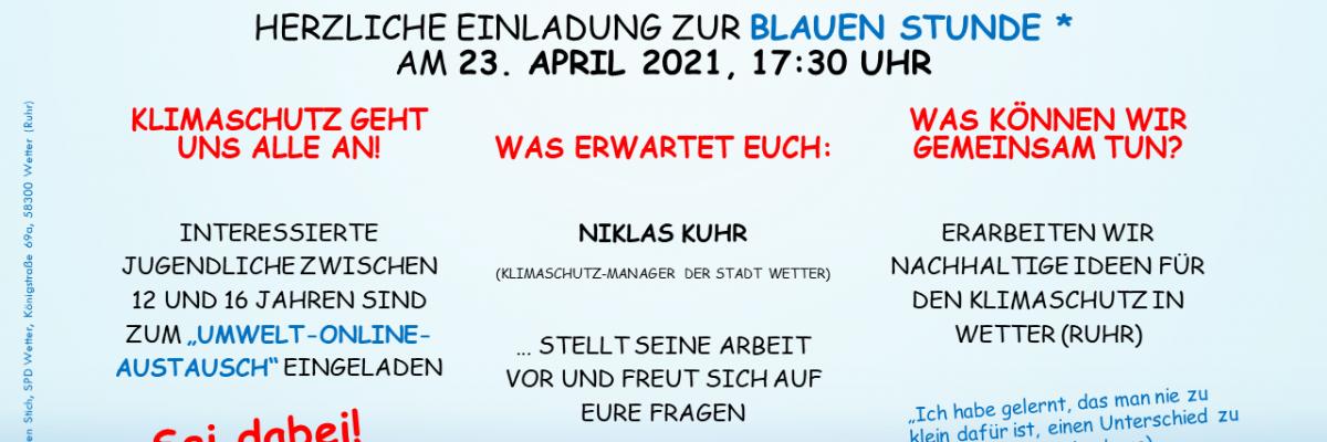Einladung: SPD-Umwelt-Online-Meeting für 12- bis 16-jährige Jugendliche